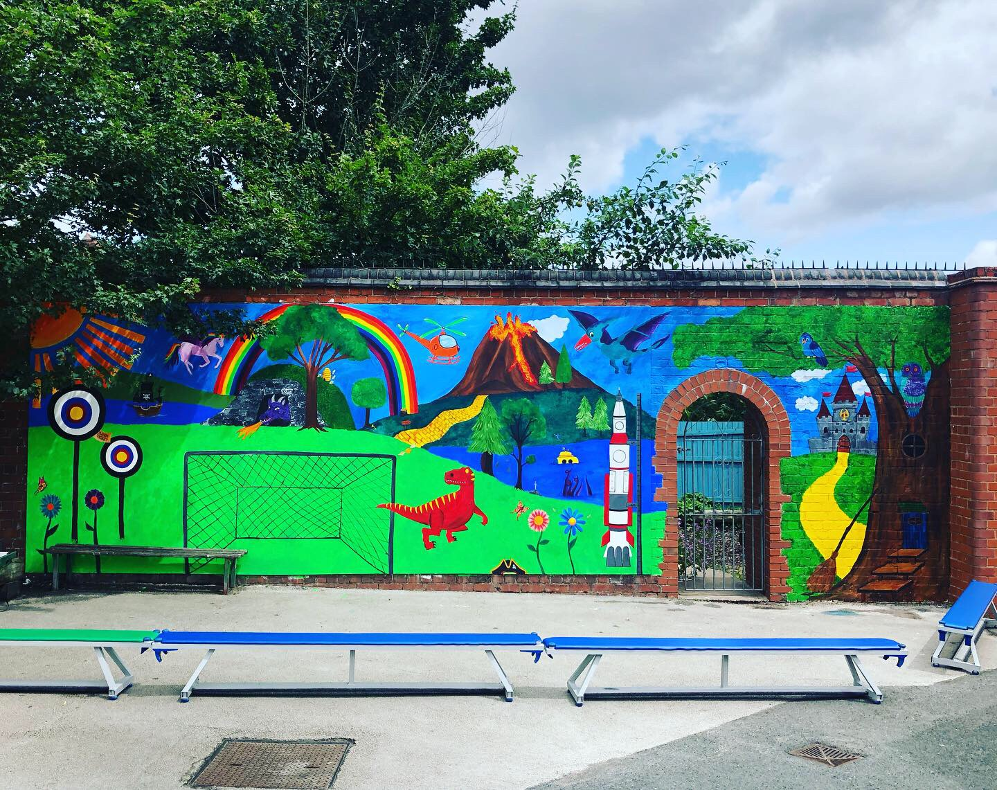 Story Time Mural at Harborne Primary School