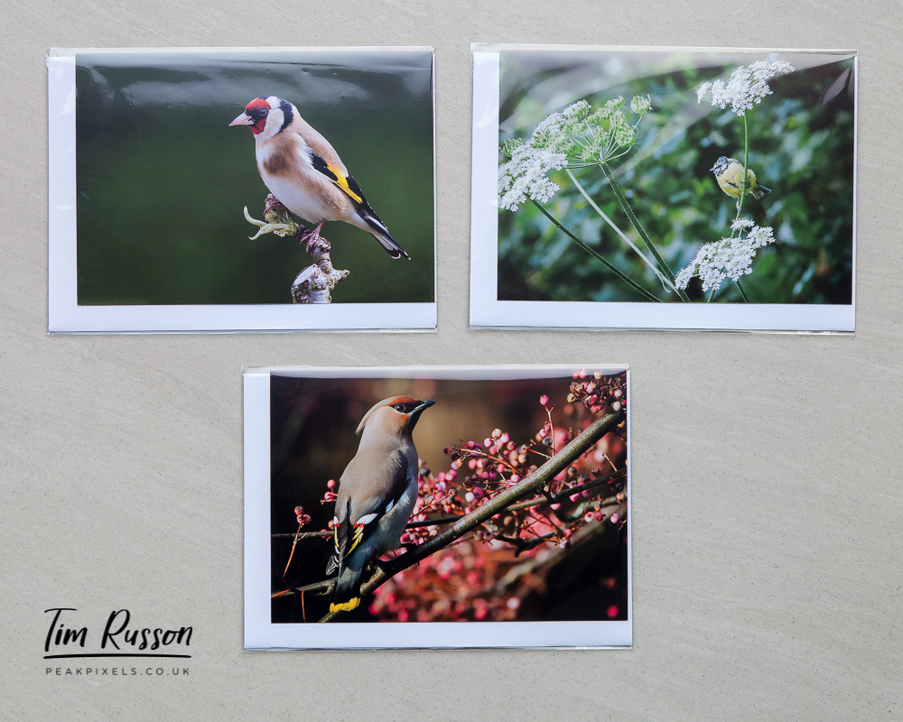 £5 for this set of 3 blank A6 sized greetings cards.