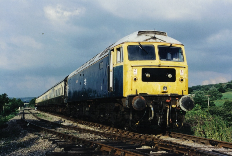 47105 on arrival at Far Stanley on a test run 03/07/94
