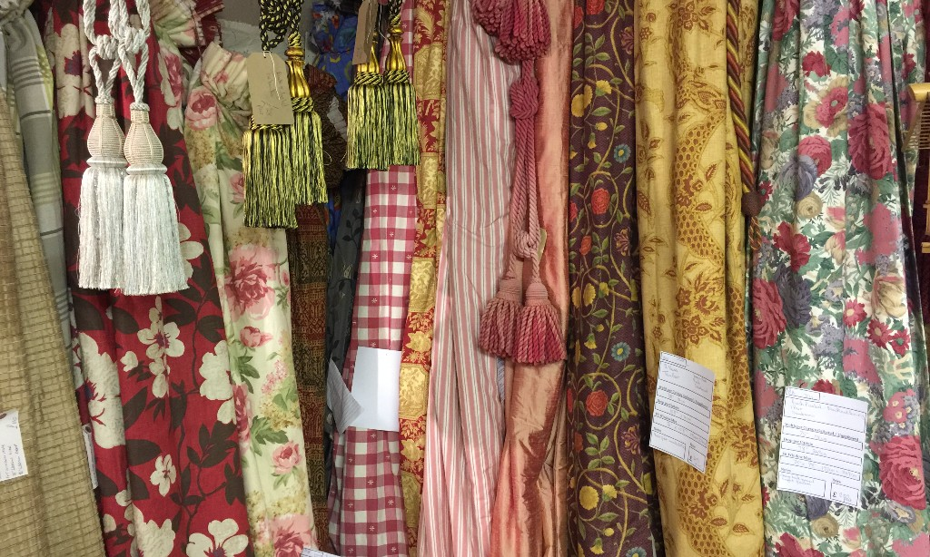 Pre-loved curtains in the St Albans showroom