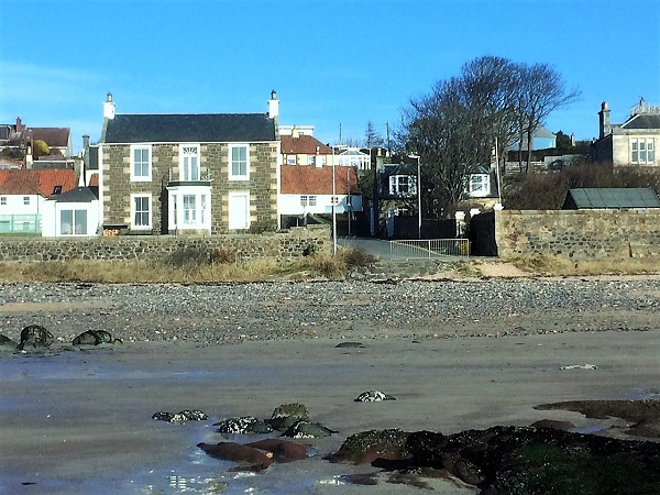 Cardy Cottage from the beach