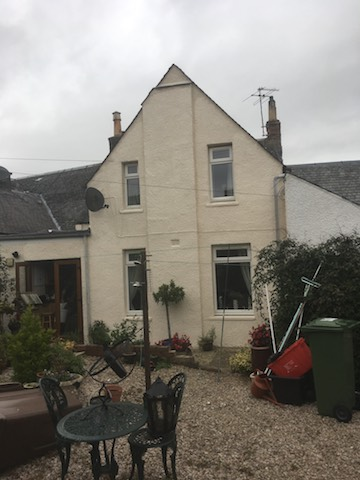 House in Kilmaurs, Ayrshire, with new wall coatings added for protection