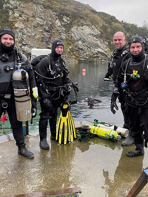 crew before a Technical dive