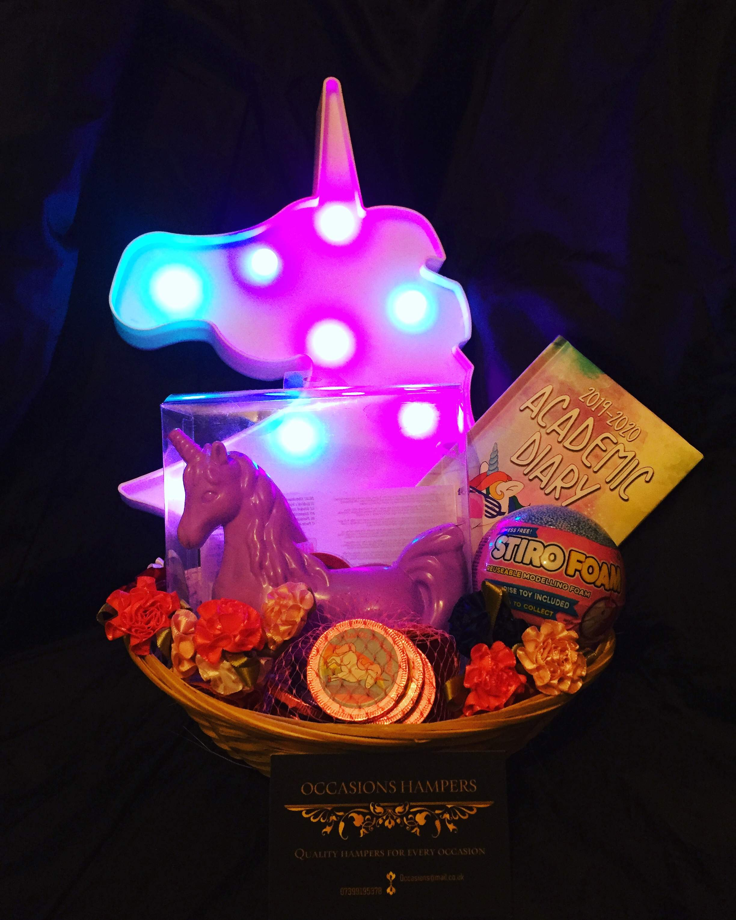 unique themed gift baskets from £20 each