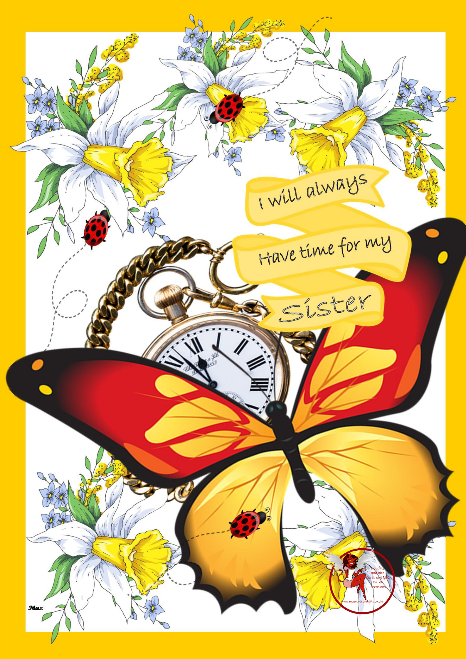 General Card - Always have time for my sister - Order No 029