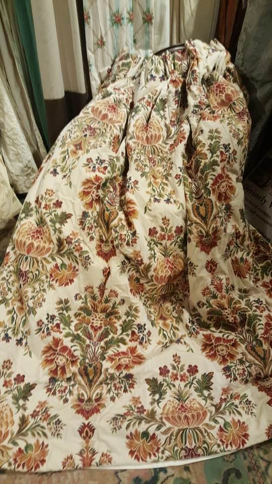 Thick Brocade Interlined Pinch Pleated Curtains W310 D203