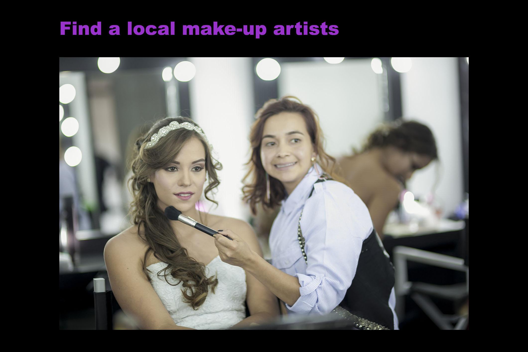 find a local make up artistjpg