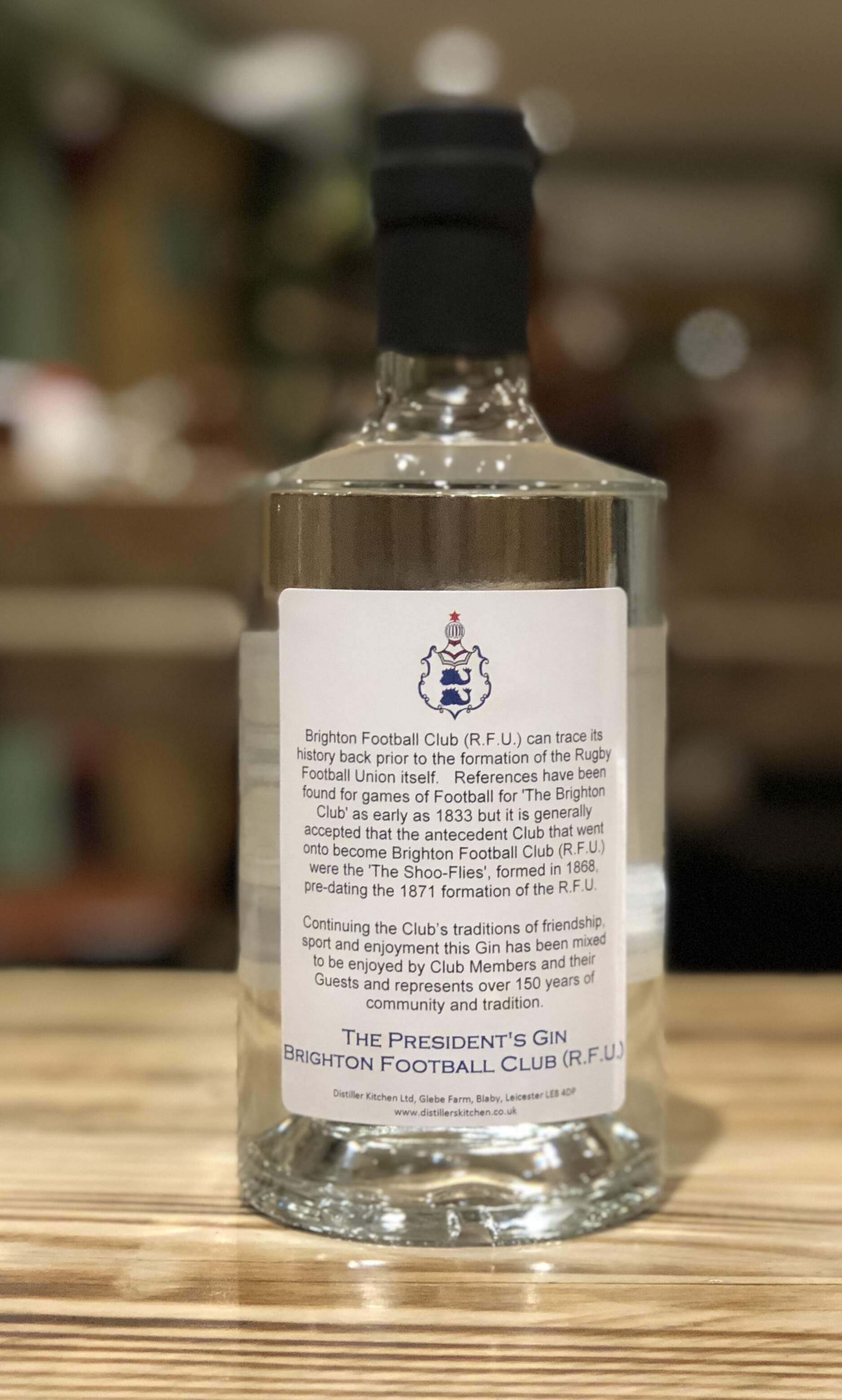 Brighton Football Club (R.F.U.) 'President's Gin'
