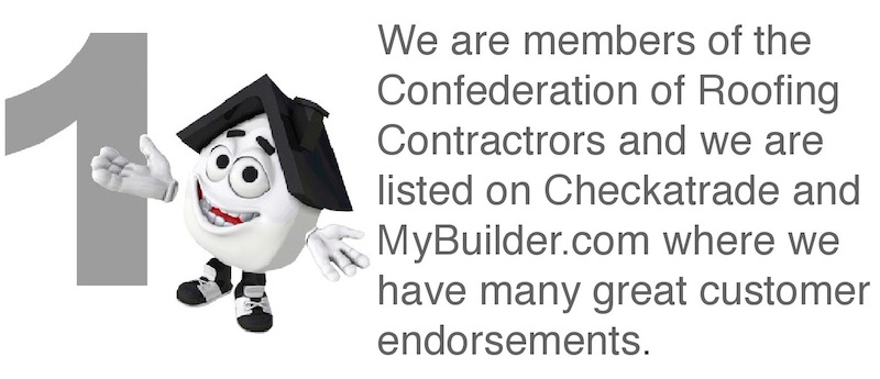 roofing contractors Basildon - South Essex Roofing are members of the Confederation of Roofing Contractors