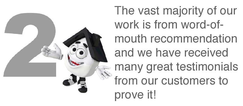 Why Choose South Essex Roofing? The vast majority of our work is through word-of-mouth recommendation and we have many great customer testimonials to prove it!