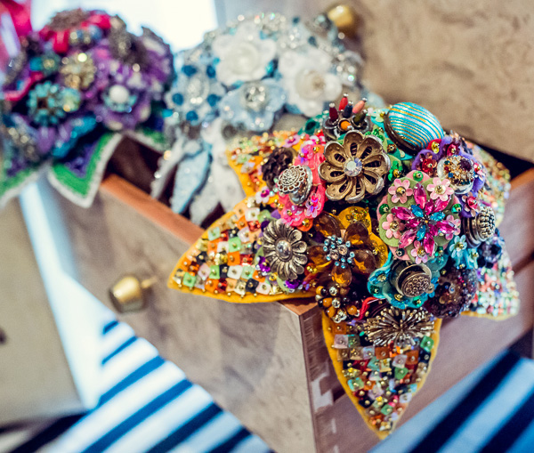 Alternative bouquets - felt, button & brooch bouquet
