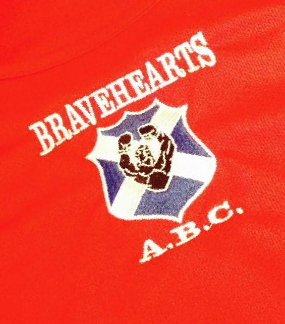 Sportswear for Bravehearts Amateur Boxing Club Whithorn