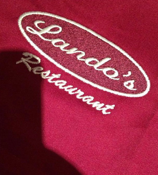 Corporate branded workwear by DG Embroidery Stranraer for Lando's Restaurant