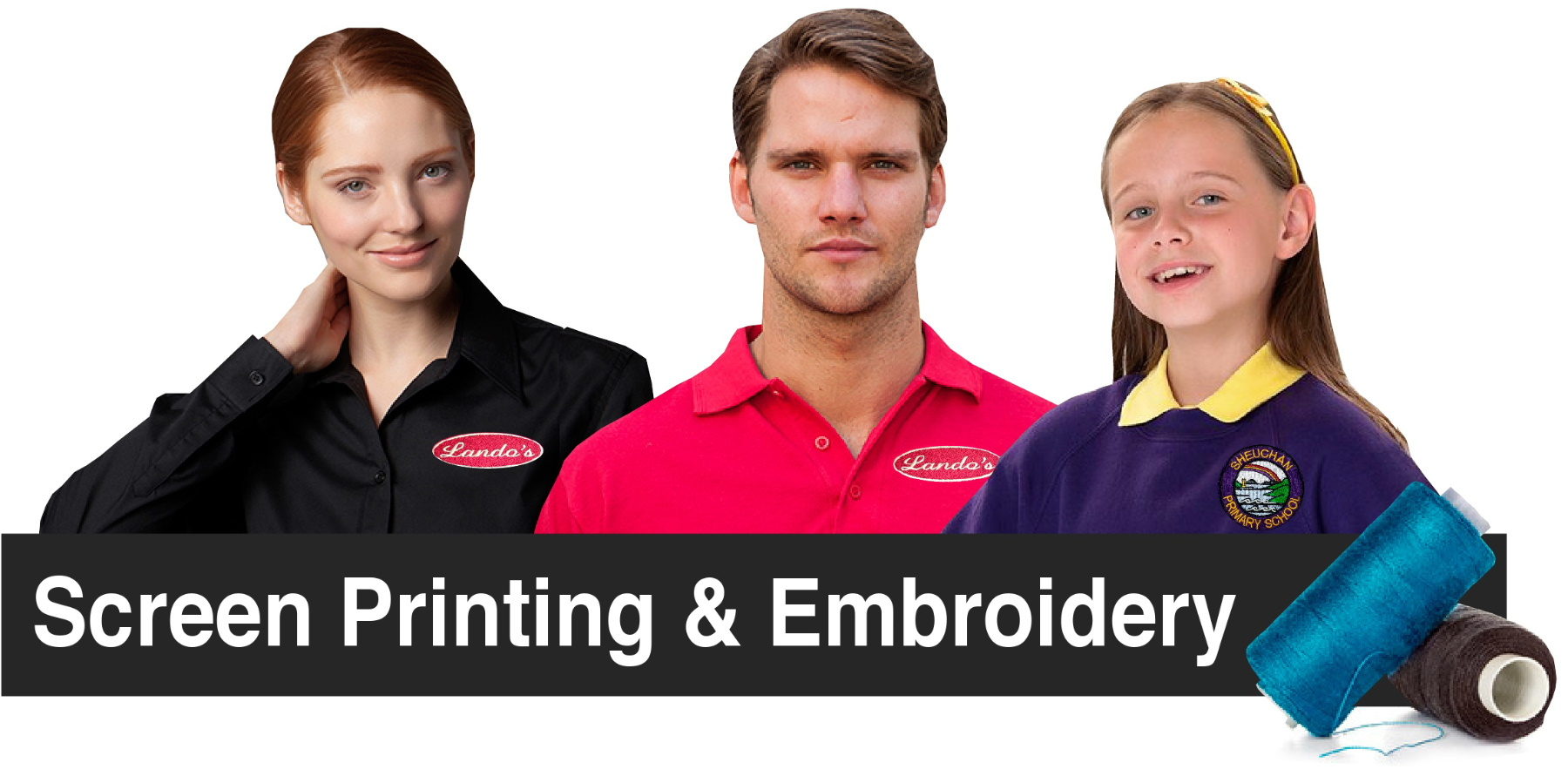 DG Embroidery of Stranraer Dumfries and Galloway specialise in garment screen printing and badge embroidery UK-wide