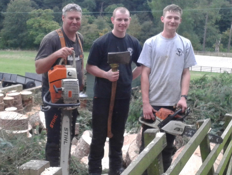 The team at J R Schad Tree Surgeons Bridge of Allan
