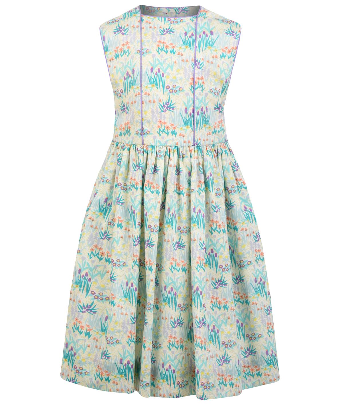 e45b2010d1d9 April Dress - April Showers Liberty print