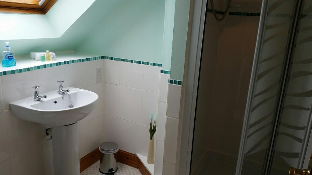 En suite bathroom at Lorien House Bed and Breakfast Fort Augustus Scotland