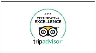Link to TripAdvisor reviews about Lorien House B&B, awarded the 2017 Certificate of Excellence