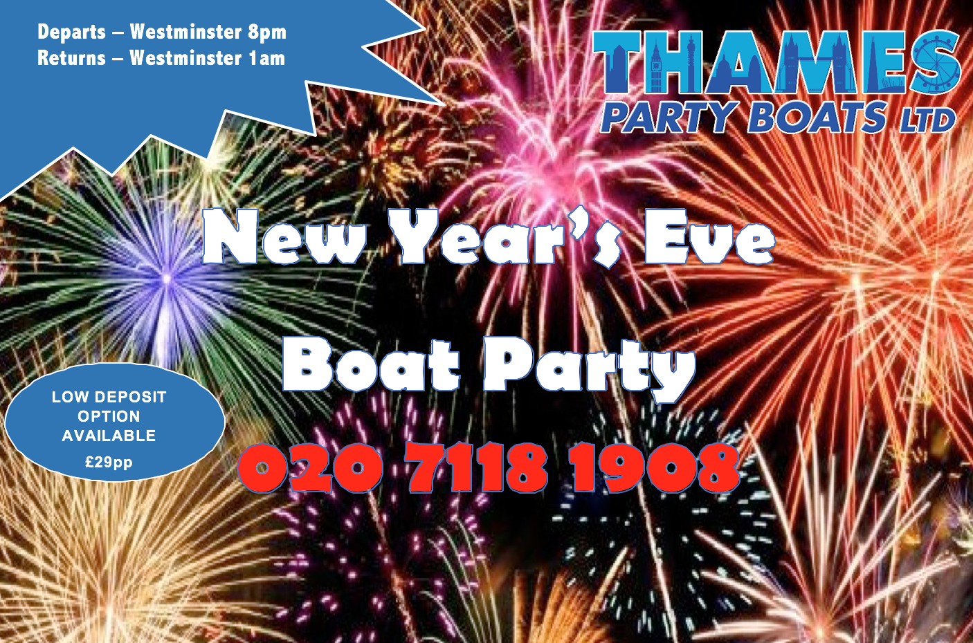 New Year's Eve 2018 - Boat Party.