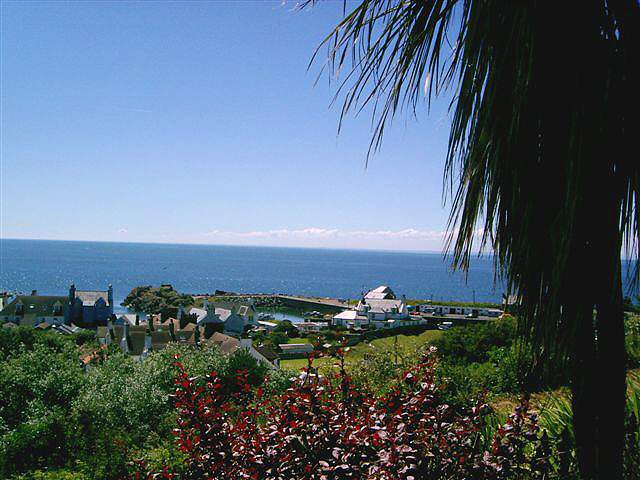 Braefield House self catering holiday let Portpatrick - Breathtaking sea views from the beautiful garden grounds at Braefield House self-catering holiday accommodation in Portpatrick, Dumfries and Galloway, Scotland