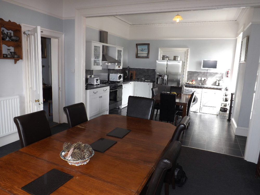 Holiday cottages Portatrick - The well-equipped contemporary kitchen at Braefield House self-catering holiday accommodation in Portpatrick, Scotland