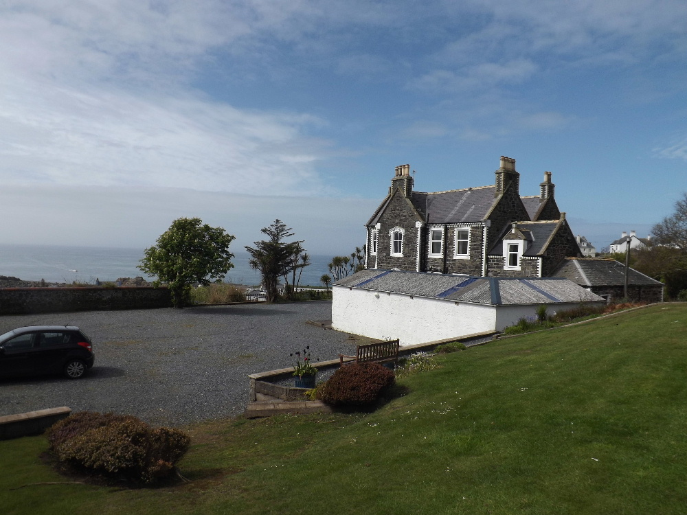 Holiday accommodation Portatrick - There's ample car parking for more than 20 cars at Braefield House self-catering holiday accommodation, Portpatrick, Scotland