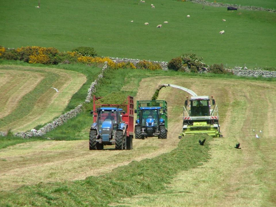 Silage contract services by RG Contracting Port William