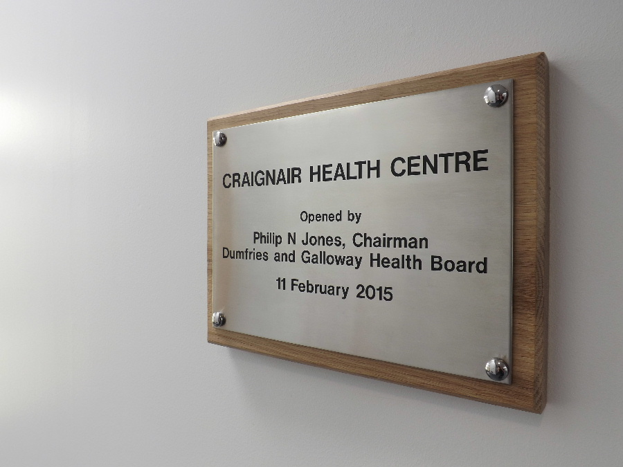 The Craignair Health Centre in Dalbeattie was officially opened on February 11th, 2015  by Phillip N Jone, Chairman of the Dumfries and Galloway Health Board