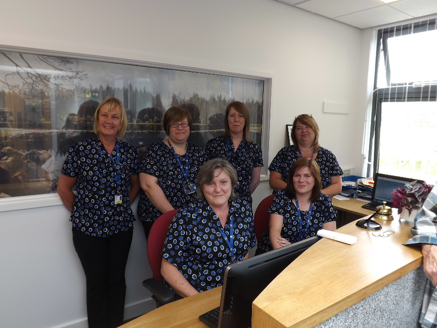 The admin team at Dalbeattie Medical Practice