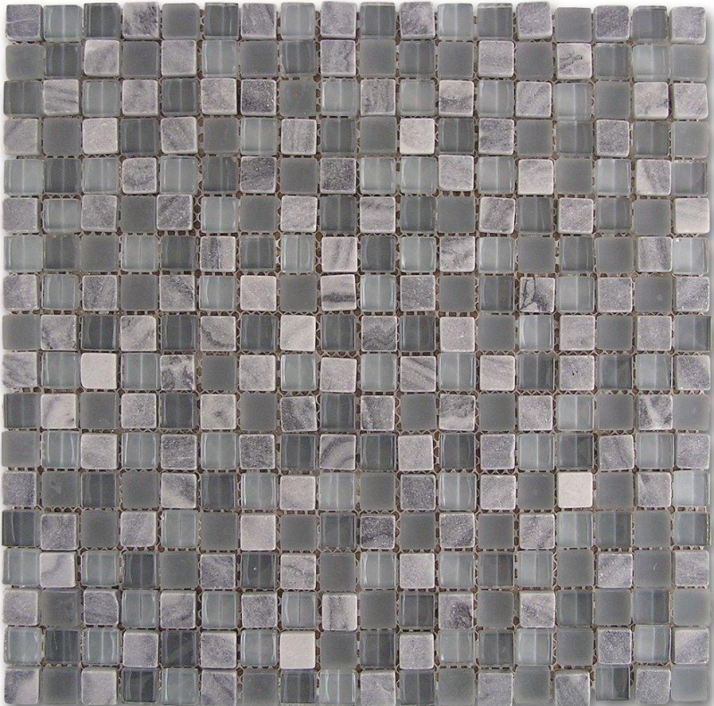 Quality mosaic tiles from Dream Tiles of Bicester in Mosaico Grey Glass