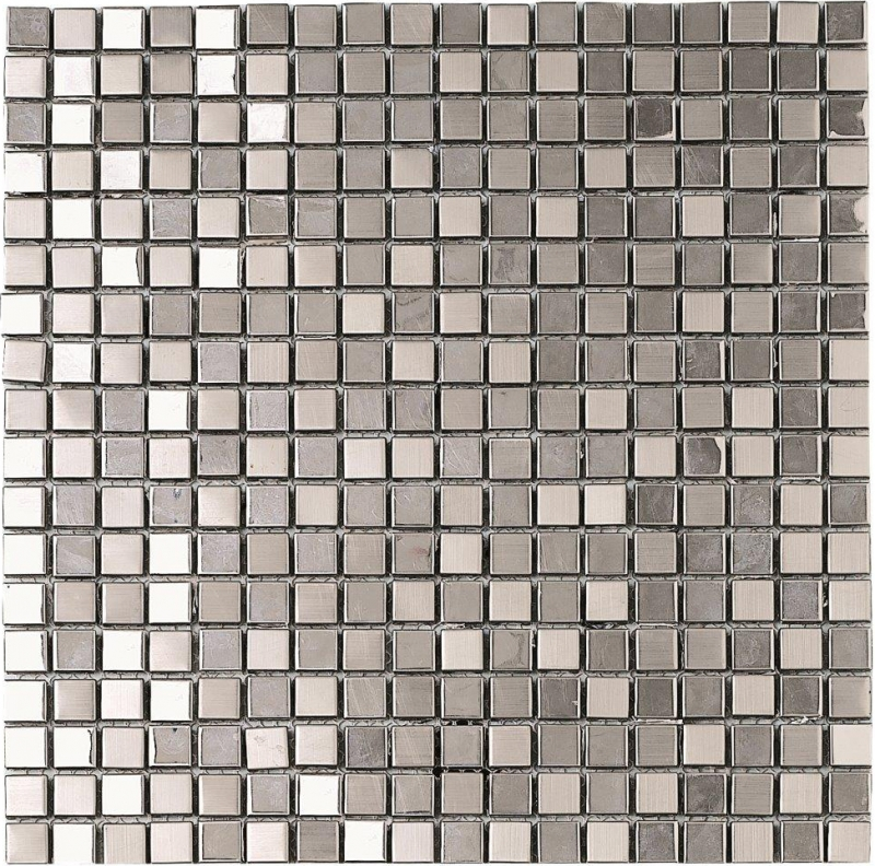 Quality mosaic tiles from Dream Tiles of Bicester in Metallic Silver