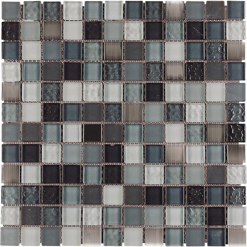 Quality mosaic tiles from Dream Tiles of Bicester in Mirror Grey