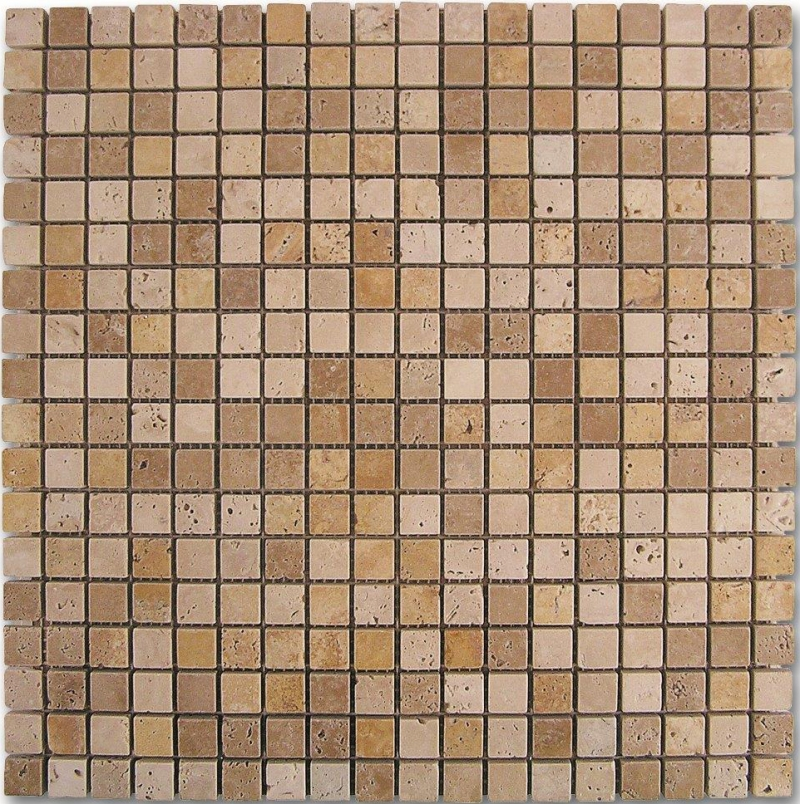 Quality mosaic tiles from Dream Tiles of Bicester in Dado Travertino