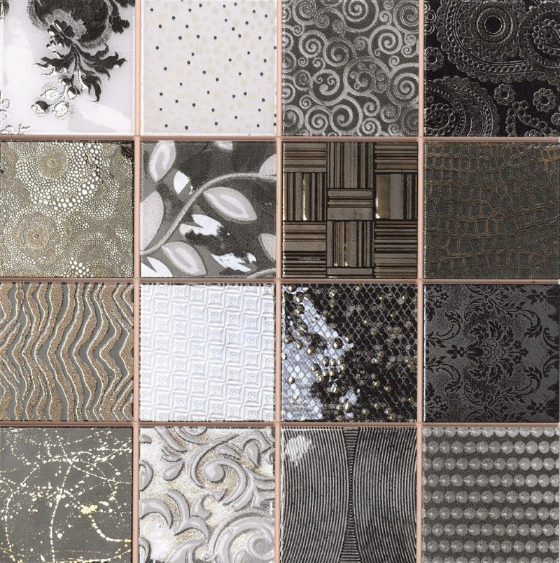 Quality mosaic tiles from Dream Tiles of Bicester in Tiffany Black