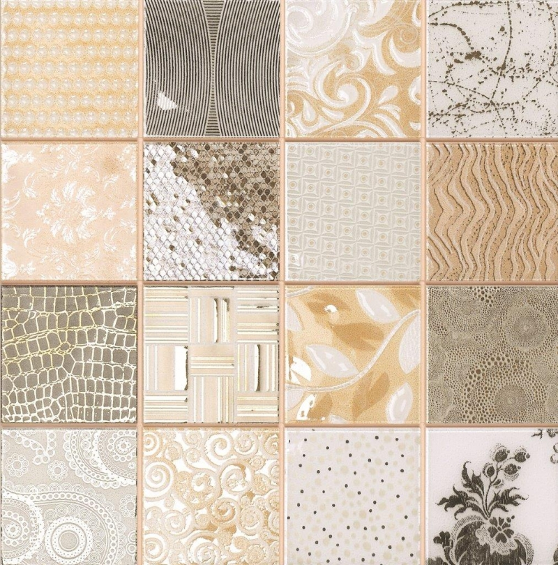 Quality mosaic tiles from Dream Tiles of Bicester in Tiffany Marfil