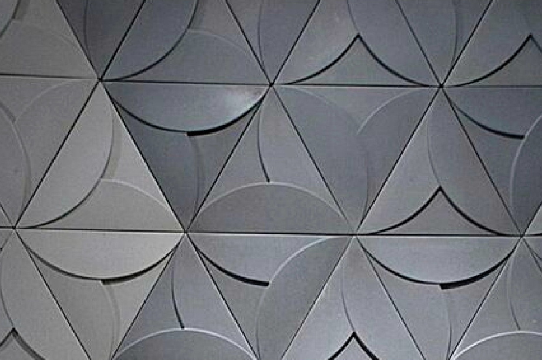 architectural concrete tiles from Dream Tiles of Bicester - Tryangle