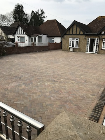 New block pave driveway in Hillingdon