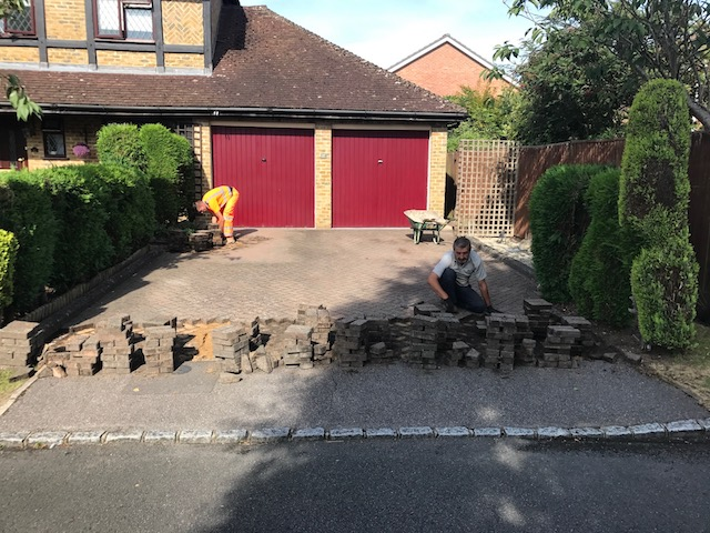 Building a block paved driveway in Basingstoke