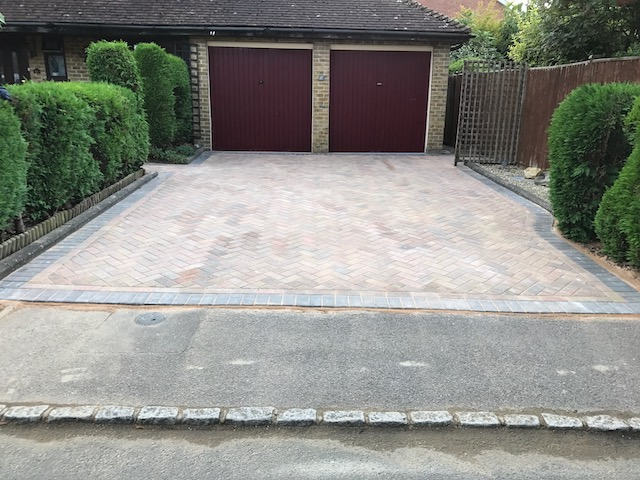 The finished item - a block paved driveway by West London Paving in Basingstoke