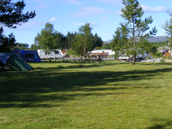 tent area at Glentrool Camping and Caravan Site