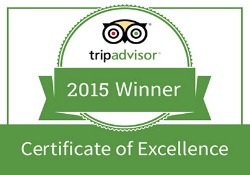 2015 Winner of Certificate of Excellence logo from TripAdvisor