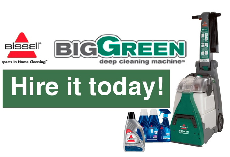 Bissell Big Green Deep Cleaning machine hire Dalbeattie Appliance Centre