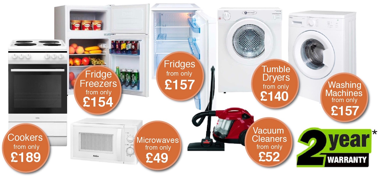 cheap home appliances including cookers, washing machines and fridge freezers from Dalbeattie Appliance Centre