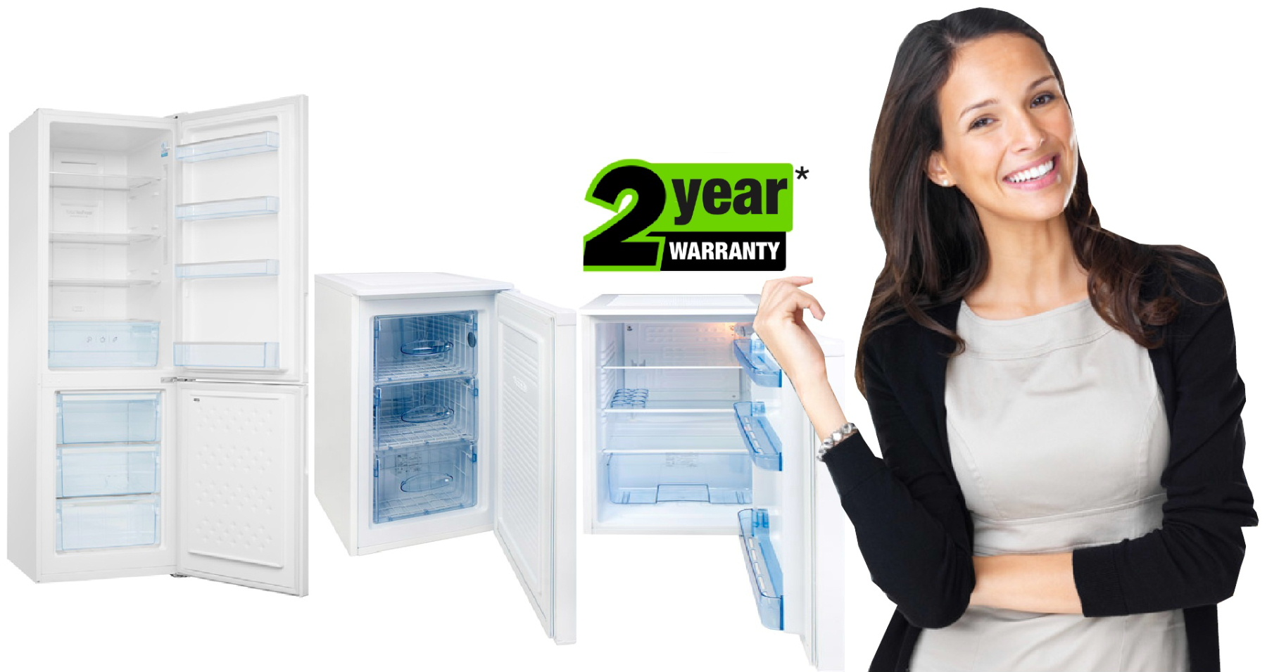 cheap fridges, cheap freezers from Dalbeattie Appliance Centre with a two year warranty on Amica and Wellco products.
