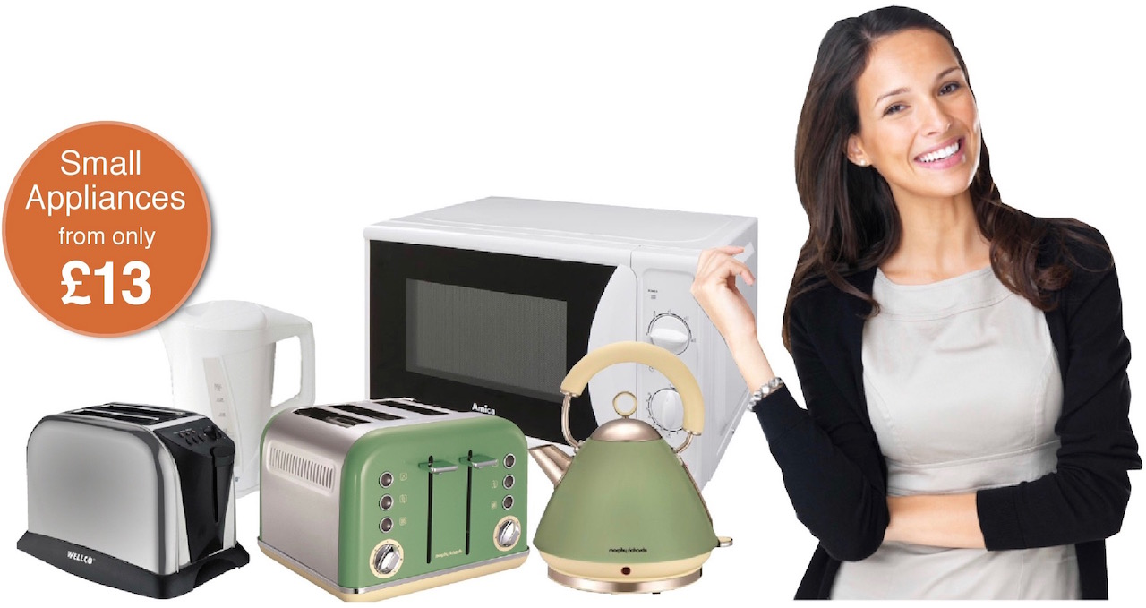 kettles from only £13 at Dalbeattie Appliance Centre, along with toasters, microwaves and other small household appliances