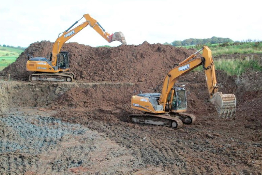 Excavation works by Torbet Plant of Stranraer