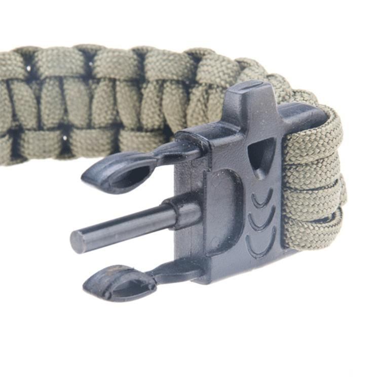 Paracord Cord Wristbands Whistle Flint Fire Starter