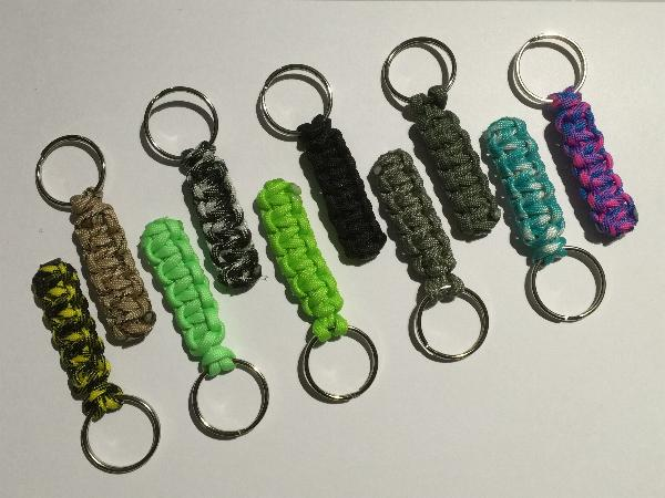 Airsoft Tactical Paracord Parachute Cord Keychain Keyring Zipper Pull