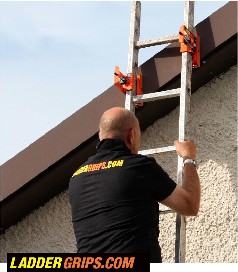 Ladder Grips ladder safety device