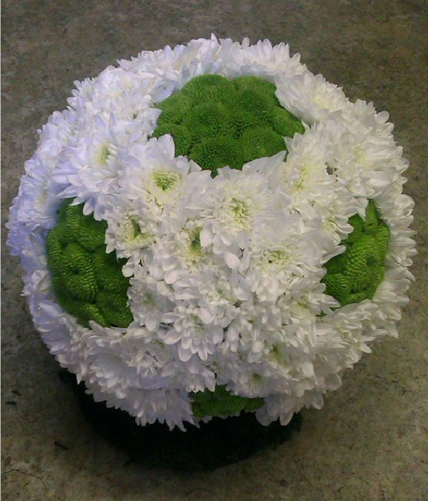 A funeral wreath from Flowers for You, Dalbeattie